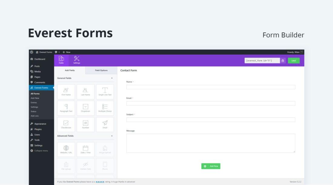 Everest Forms do WordPress formularze